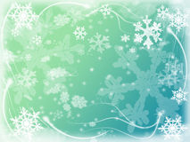 Winter background with snowflakes in blue Royalty Free Stock Photo