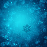Winter background from snowflakes Stock Photo