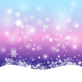 Winter background with snowflakes Stock Photo