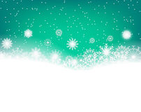 Winter background with snowflakes and copy space for text. Vector Stock Photography