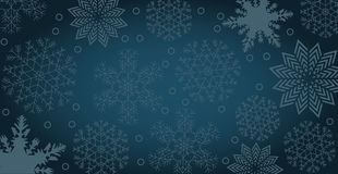 Winter background with snowflakes and copy space. Vector illustration of a winter Background with snowflakes and copy space Stock Photos