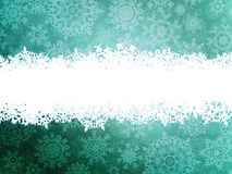 Winter background with snowflakes. EPS 10 Stock Photo