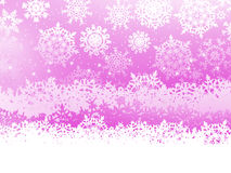 Winter background with snowflakes. EPS 8 Stock Photos