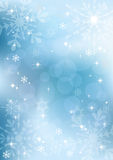Winter background with snowflakes. EPS10. Royalty Free Stock Photo