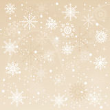 A winter background with snowflakes falling Royalty Free Stock Image