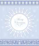 Winter background or snowflakes frame Royalty Free Stock Photos