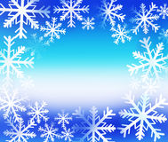 Winter background with snowflakes frame Stock Image