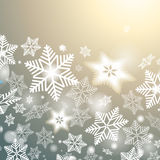 Winter background with snowflakes. Graphic festive winter background with snowflakes Royalty Free Stock Images