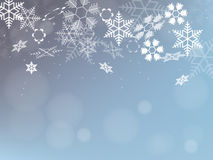 Winter Background with Snowflakes. Holiday Design. Vector. Stock Photography