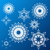 Winter background. snowflakes.  Royalty Free Stock Photo
