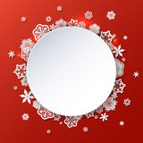 Winter background with snowflakes with place for text. Winter red background with snowflakes with place for text vector illustration