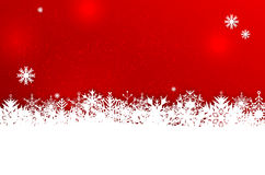 Winter background with snowflakes and place for text. Red winter or Christmas background with abstract snowflakes and place for your text - vector illustration Stock Photo