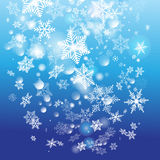Winter background with snowflakes Stock Photos