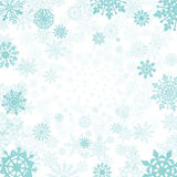 Winter background with snowflakes  snow vector Royalty Free Stock Image