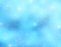 Winter background with snowflakes and stars. Bright winter background with space for text or image Stock Image
