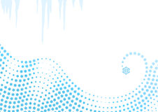 Winter background / snowflakes swirl / vector Stock Image