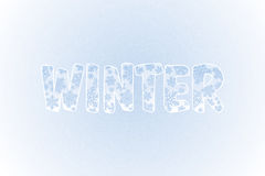 Winter Background With Snowflakes and Text. Vector. Illustration Stock Images