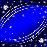 Winter background with the snowflakes. vector  Stock Image