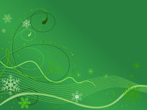 Winter background with snowflakes. Vector Stock Photography