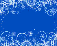 Winter background with snowflakes. Vector illustra Stock Image
