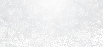 Winter background with snowflakes vector illustration