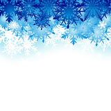 Winter background, snowflakes - vector illustration Stock Image
