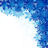 Winter background, snowflakes - vector illustration Royalty Free Stock Photography