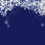 Winter background, snowflakes - vector illustration Stock Images