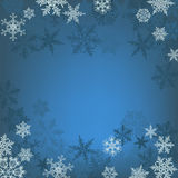 Winter background, snowflakes - vector illustration Royalty Free Stock Image