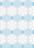 Winter background. With snowflakes in white and blue Royalty Free Stock Images