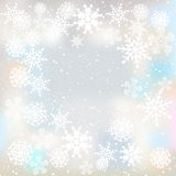 Winter background with snowflakes. Winter white background with different snowflakes Royalty Free Stock Photography