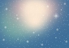 Winter Background with snowflakes for your own creations. Blue Winter Background with snowflakes for your own creations vector illustration