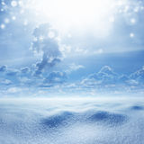Winter background, snowy landscape Royalty Free Stock Image