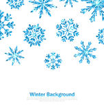 Winter Background with Sparkle Snowflakes Royalty Free Stock Photo