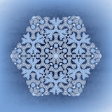Winter background with stylized snowflakes. Royalty Free Stock Photo