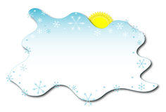 Winter background with sun Stock Photos