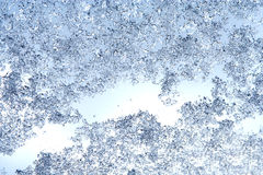 Winter background, texture of ice drops, frozen rain and snow on Royalty Free Stock Image