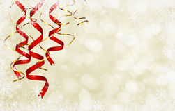 Winter background with twisted ribbons royalty free stock photo