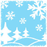 Winter background, vector Royalty Free Stock Photography
