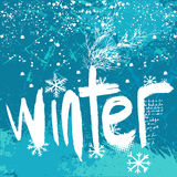 Winter background vector Stock Image