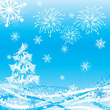 Winter background, vector Royalty Free Stock Photos