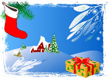Winter Background - vector. Snow Winter Background - vector illustration Royalty Free Stock Image