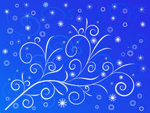 Winter Background - vector. Winter Background in Blue- vector Royalty Free Stock Images