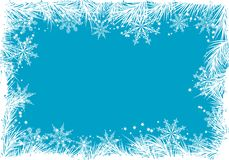Winter background, vector Stock Photo