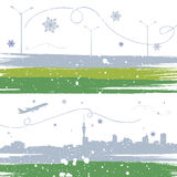 Winter background vector Stock Photo