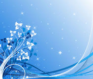 Winter background vector illustration Stock Images
