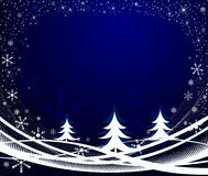 Winter background vector illustration Royalty Free Stock Photography