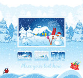 Winter background for web template Stock Image