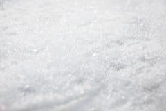 Winter Background. White snow detail - winter background Stock Photo