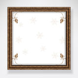 Winter background white Stock Photography